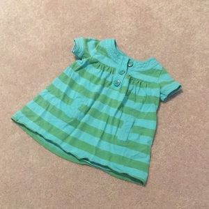 🌿8/$45🌿 Short Sleeve Smocked Striped Dress 2T